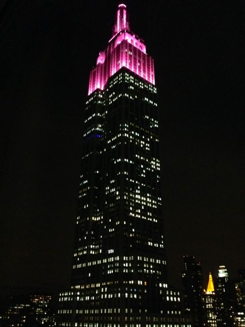 The Empire State Building, in Pink!