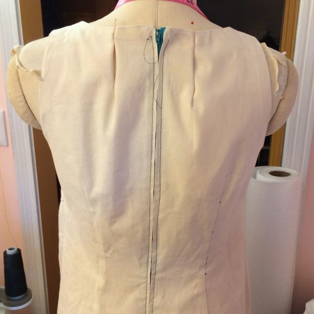 Burda 7378 Muslin Back Detail