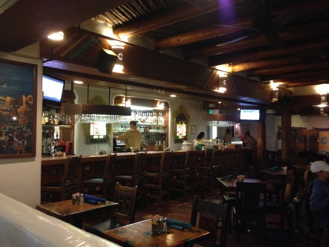 This is the bar at La Fonda on the Plaza where Bob Oppenheimer and the Manhattan Boys used to come drinking on Friday Nights. We Fiberly sisters kept that great tradition. Minus the nukes.