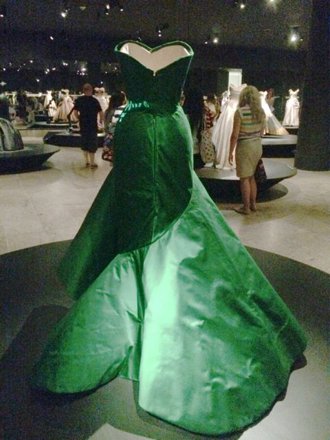 Green ballgown with photoshopping to try to see it better
