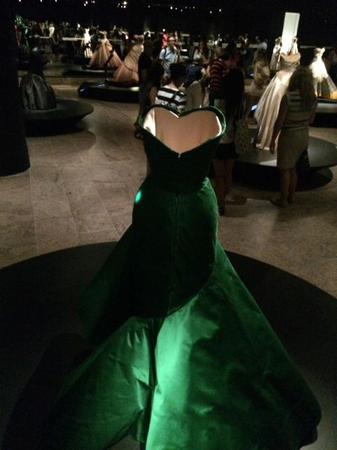 Green ballgown, whose name I didn't note